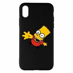 Чехол для iPhone X/Xs Барт Симпсон