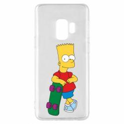 Чехол для Samsung S9 Bart Simpson - FatLine