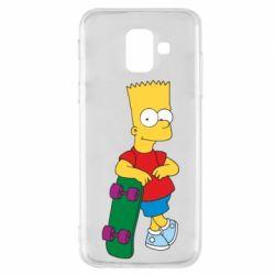 Чехол для Samsung A6 2018 Bart Simpson - FatLine