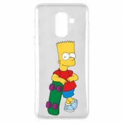 Чехол для Samsung A6+ 2018 Bart Simpson - FatLine