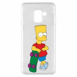Чехол для Samsung A8 2018 Bart Simpson - FatLine