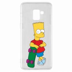 Чехол для Samsung A8+ 2018 Bart Simpson - FatLine