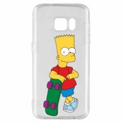 Чехол для Samsung S7 Bart Simpson - FatLine