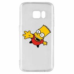 Чехол для Samsung S7 Барт Симпсон