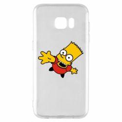 Чехол для Samsung S7 EDGE Барт Симпсон