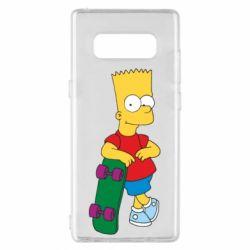 Чехол для Samsung Note 8 Bart Simpson - FatLine