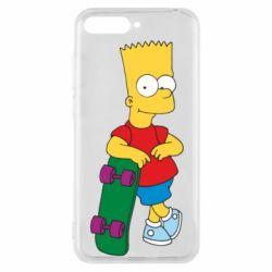 Чехол для Huawei Y6 2018 Bart Simpson - FatLine
