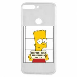 Чехол для Huawei Y7 Prime 2018 Барт в тюряге - FatLine