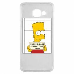 Чехол для Samsung A3 2016 Барт в тюряге - FatLine