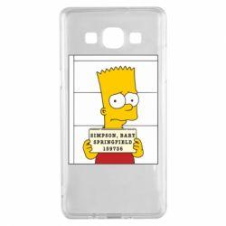 Чехол для Samsung A5 2015 Барт в тюряге - FatLine