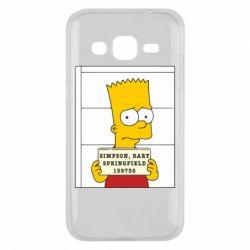 Чехол для Samsung J2 2015 Барт в тюряге - FatLine