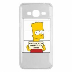 Чехол для Samsung J3 2016 Барт в тюряге - FatLine