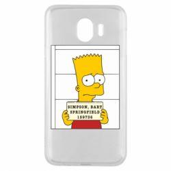 Чехол для Samsung J4 Барт в тюряге - FatLine