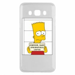 Чехол для Samsung J5 2016 Барт в тюряге - FatLine