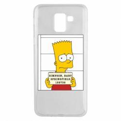 Чехол для Samsung J6 Барт в тюряге - FatLine