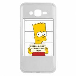 Чехол для Samsung J7 2015 Барт в тюряге - FatLine