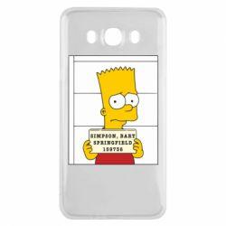 Чехол для Samsung J7 2016 Барт в тюряге - FatLine