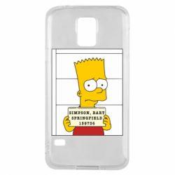 Чехол для Samsung S5 Барт в тюряге - FatLine