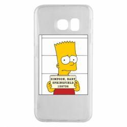 Чехол для Samsung S6 EDGE Барт в тюряге - FatLine