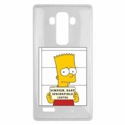 Чехол для LG G4 Барт в тюряге - FatLine