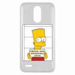 Чехол для LG K10 2017 Барт в тюряге - FatLine