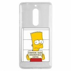 Чехол для Nokia 5 Барт в тюряге - FatLine