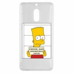 Чехол для Nokia 6 Барт в тюряге - FatLine