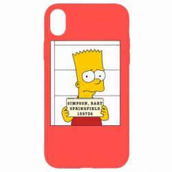 Чехол для iPhone XR Барт в тюряге - FatLine