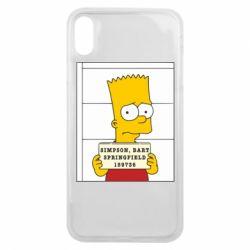 Чехол для iPhone Xs Max Барт в тюряге - FatLine