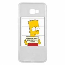 Чехол для Samsung J4 Plus 2018 Барт в тюряге - FatLine