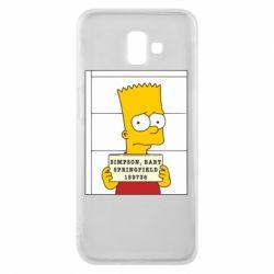 Чехол для Samsung J6 Plus 2018 Барт в тюряге