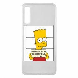 Чехол для Samsung A7 2018 Барт в тюряге - FatLine
