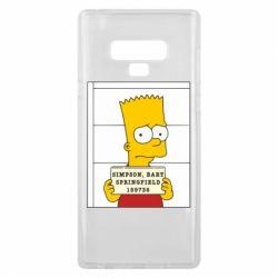 Чехол для Samsung Note 9 Барт в тюряге - FatLine