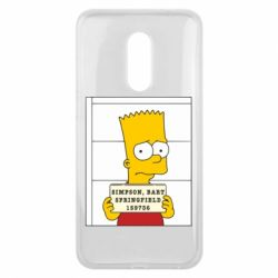Чехол для Meizu 16 plus Барт в тюряге - FatLine