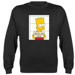 Реглан (свитшот) Барт в тюряге - FatLine