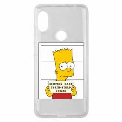 Чехол для Xiaomi Redmi Note 6 Pro Барт в тюряге - FatLine