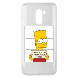 Чехол для Xiaomi Pocophone F1 Барт в тюряге - FatLine