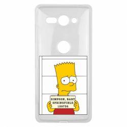 Чехол для Sony Xperia XZ2 Compact Барт в тюряге - FatLine