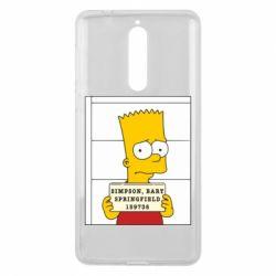 Чехол для Nokia 8 Барт в тюряге - FatLine