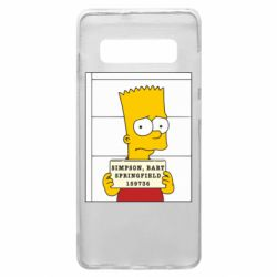 Чехол для Samsung S10+ Барт в тюряге