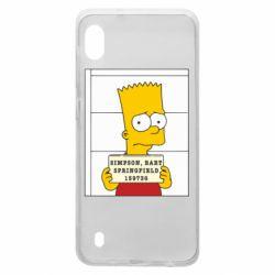 Чехол для Samsung A10 Барт в тюряге