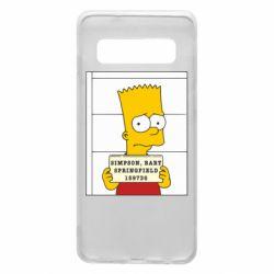 Чехол для Samsung S10 Барт в тюряге