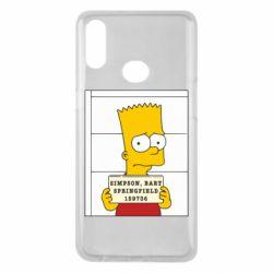 Чехол для Samsung A10s Барт в тюряге