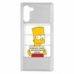 Чехол для Samsung Note 10 Барт в тюряге
