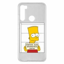 Чехол для Xiaomi Redmi Note 8 Барт в тюряге