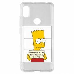 Чехол для Xiaomi Redmi S2 Барт в тюряге
