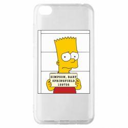 Чехол для Xiaomi Redmi Go Барт в тюряге