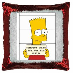 Подушка-хамелеон Барт в тюряге