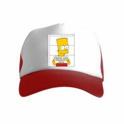 Детская кепка-тракер Барт в тюряге