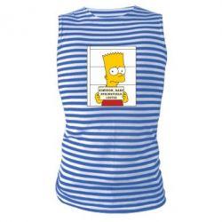 Майка-тельняшка Барт в тюряге - FatLine